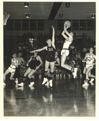 Parkview's John Weston rises for a shot in a regular season game from the Vikings' 1965 27-1 state championship year. (Photo courtesy of Parkview High School)