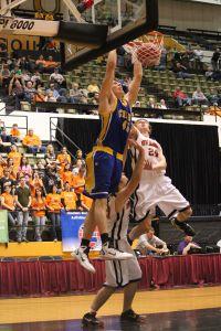 Crane's Anthony Vermillion dunks. (Staff Photo)
