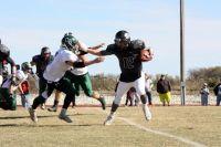 Skyline quarterback Dylan Mountain eludes a tackler.