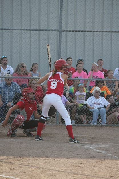 Skyline's McKinsey Mountain bats for the Lady Tigers.