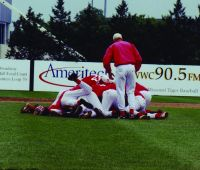 State championship dog pile! (Photo courtesy of Cindy Evans)