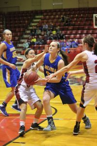 Bolivar's Kaylie Rothdiener (with ball) (Staff Photo)
