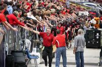 Thanking the fans after the 2011 state title game (photo courtesy of Lamar HS)
