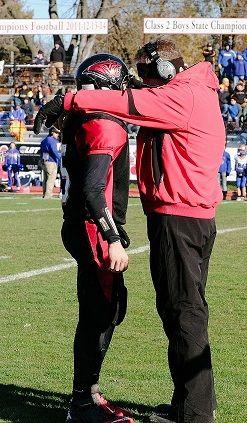 Lamar's Matt Whyman (L) and Coach Scott Bailey (Photo courtesy of Lamar HS)