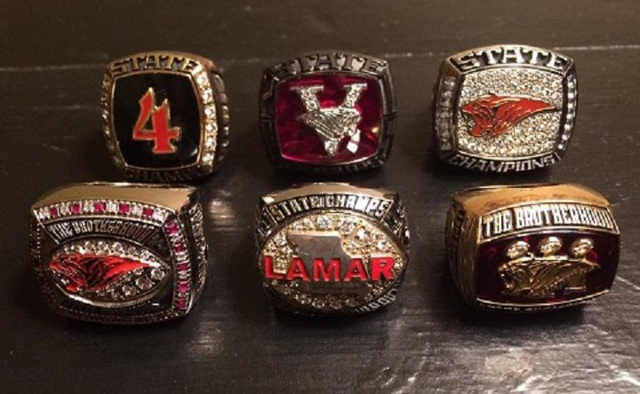 SIX RINGS (Photo courtesy of Lamar HS)